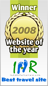 IHR won best travel website 2008 award